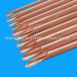 Tubo de agua de cobre rígido de la alta calidad con el cobre 99.96%