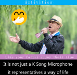 Mini microfono tenuto in mano di karaoke di Bluetooth dell'altoparlante mobile di Bluetooth