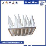 Pocket synthetische Faser-Luftfilter für Ventilation