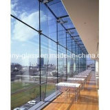 vidrio de flotador del claro del propósito de la construcción de 5m m