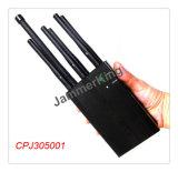 poderosa mano cdma gsm 3g / 4g del teléfono móvil wifi, LoJack , bloqueador de señal GPS / jammer