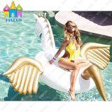Vlotters van de Pool van de Flamingo's van de Zwaan van Pegasus van de Lucht van het Park van het Water van pvc van Finego de Opblaasbare Gouden