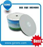 CD-R en blanco al por mayor grado imprimible a+ del espacio en blanco de la cara llena de la impresión
