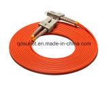Fibre optique duplex Patchcord de Sc-Sc millimètre