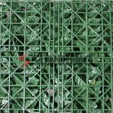 Haie artificielle de haies de frontière de sécurité en plastique verte extérieure de jardin