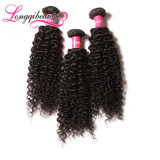 Нарисованное двойником горячее продавая индийское выдвижение курчавых волос Remy