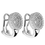 최신 판매 925 여자를 위한 은 굴렁쇠 귀걸이 보석