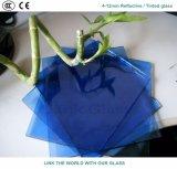 glace r3fléchissante bleue de 4mm avec du ce et ISO9001 pour le guichet en verre
