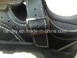 Pelle + cuoio sintetico Parte Sandalo di sicurezza Scarpa (HQ05036)