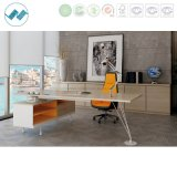 Стол современного менеджера офисной мебели 0Nисполнительный с стальной ногой (clever-MD22)