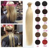 Brasilianer passen Farbe Ich-Spitzen Remy Haar-Extension an