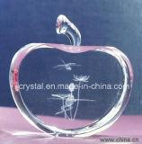 Grabado Apple, Apple cristalino del laser para los regalos de día de fiesta o los regalos de cumpleaños