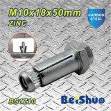 Tornillo de ancla plateado cinc de la extensión del color del acero de carbón M6/M8/M10
