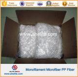 Fibra monofilamento 100% virgen PP para hormigón