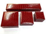 Rectángulo de regalo de cuero del embalaje de la joyería del rectángulo de almacenaje de la joyería del terciopelo (YS94)
