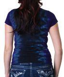 Femmes T Shirt_Clothes d'impression de tissu de teinture de Fashion_Design