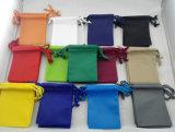 Sacchetto di polvere stampato del coperchio del Drawstring del tessuto per le borse ed i vestiti del pattino