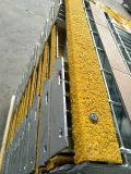 Tec-Sieve T6 Galvanizado Bar Grating Segurança Steel Stair Treads with Yellow Nonskid Nosings