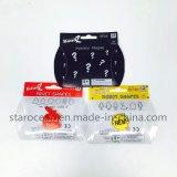 Bloc supérieur de empaquetage de produit de PVC de boîte-cadeau en plastique avec la carte de papier