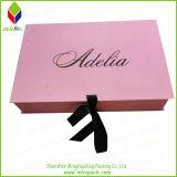 Rosa de lujo plegable de la caja de cartón para los zapatos