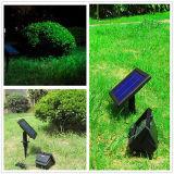 Luz solar de la hierba de 30 LED de la calle de gran alcance inoxidable del jardín