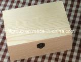 Rectángulo de regalo de madera modificado para requisitos particulares del rectángulo de madera sólida de la vendimia