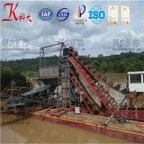 Máquina de mineração do ouro de Keda, draga do ouro da cubeta Chain