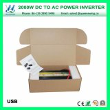 Inverseur à haute fréquence de DC12V AC110/120V 2000W (QW-M2000)