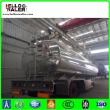 De dubbele Semi Aanhangwagen van de Tanker van de Brandstof van de Legering van het Aluminium van de As 42000L