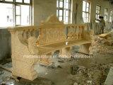 베이지색 돌 조각품 대리석 테이블 (SY-T002)