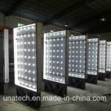 Publicidad de la cartelera al aire libre de aluminio del rectángulo ligero LED del movimiento en sentido vertical