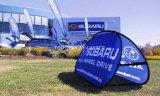 折る印刷されたショー箱によってはフレームの三角形モデルが現れるステッチされるCustomedデザイン倍がスポーツのゴルフ展覧会の立場のために屋外フレームの旗を現れるぽんと鳴らす