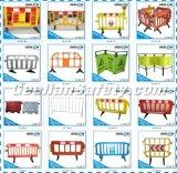 Weiße, gelbe, rote Plastikstraßen-Sperren, Auto-Verpackungs-Sperre