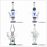 Fabricant de verre en Chine Hbking New Arrival Art Glass Tubes d'eau, huile DAB Rig Recycler Percolator Beaker Glass Smoking Pipe