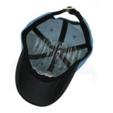 Zoll gewaschener Denim-Baseball-Hut mit ledernem Rand