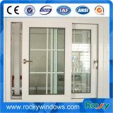 Porte en verre glacée par double/modèle en aluminium de grils de Windows et de porte avec des abat-jour d'intérieur