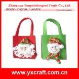 クリスマスの装飾(ZY15Y010-1-2-3)のクリスマス非編まれた袋のギフト袋