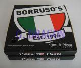 Weiß außen und natürlicher/Kraftpapier-Innenpizza-Kasten (CCB14001)