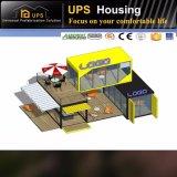 Передвижная рентабельная Prefab дом контейнера на колесах с сараем
