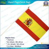 bandeiras nacionais da mão de Spain do poliéster de 20X30cm (NF01F02028)