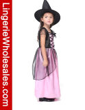 Costume партии Cosplay маленькой девочки черный и розовый ведьмы