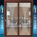 Puertas deslizantes exteriores interiores de aluminio de las puertas deslizantes
