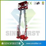 elevador de la elevación del hombre de funcionamiento de la aleación de aluminio de los 6m-12m