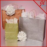 インククラフトのショッピング・バッグのブラウン金属クラフトの紙袋