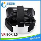 Écouteur de Vr en verre du virtual reality 3D du cadre 2.0 d'OEM Vr + contrôleur de Bluetooth