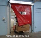 Porte rapide à réparation automatique de roulis de tissu de PVC pour l'entrepôt