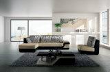 居間の本革のソファー(SBL-9011)