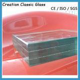стекло 6.38-12.76mm ясное и подкрашиванное прокатанное с Ce CCC