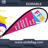 Nuova bandierina di pubblicità del Teardrop, bandierina di spiaggia, bandiera del Teardrop