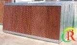 Pista de la refrigeración por evaporación usada en verde y casa de las aves de corral con el certificado del Ce